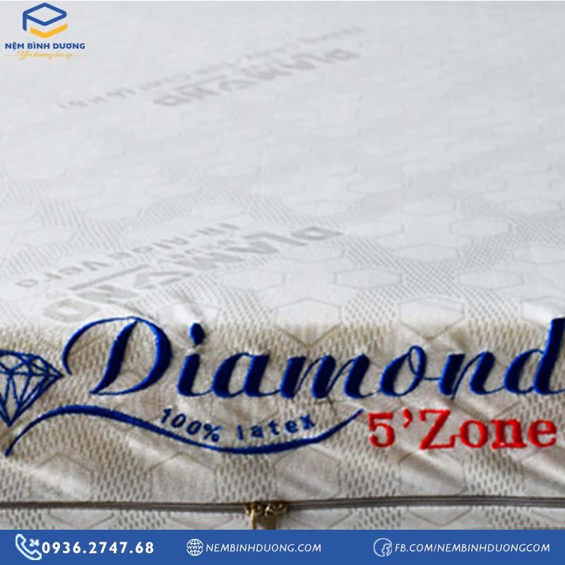 Nệm Cao Su Kim Cương Diamond 5'Zone Aloe - Nệm Bình Dương