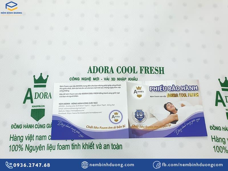 Nệm cao su foam Adora Cool Fresh - Nệm Bình Dương