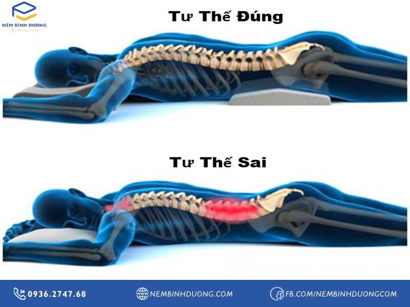 Người đau lưng nên nằm ngủ ở tư thế nào - Nệm Bình Dương