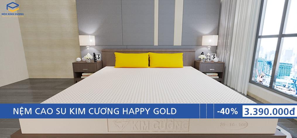 Nệm cao su Kim Cương Happy Gold - Nệm Bình Dương