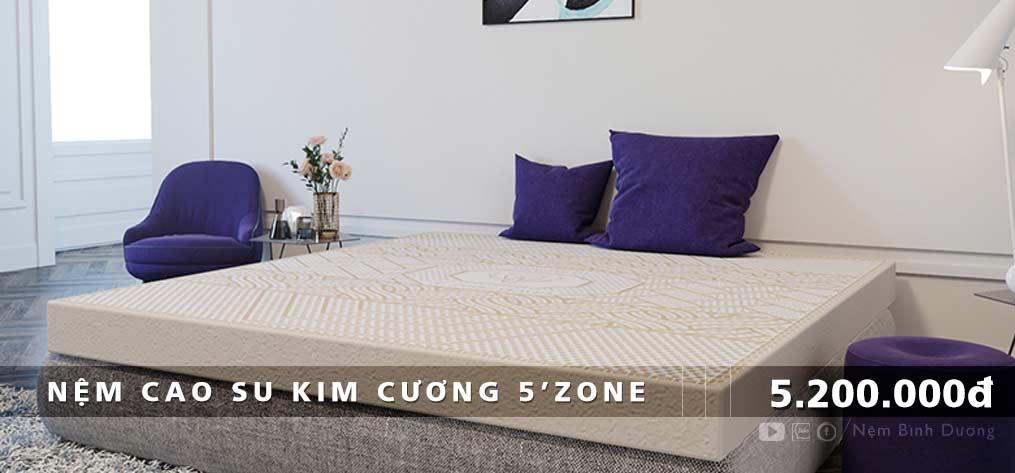 Nệm cao su Kim Cương 5Zone - Nệm Bình Dương