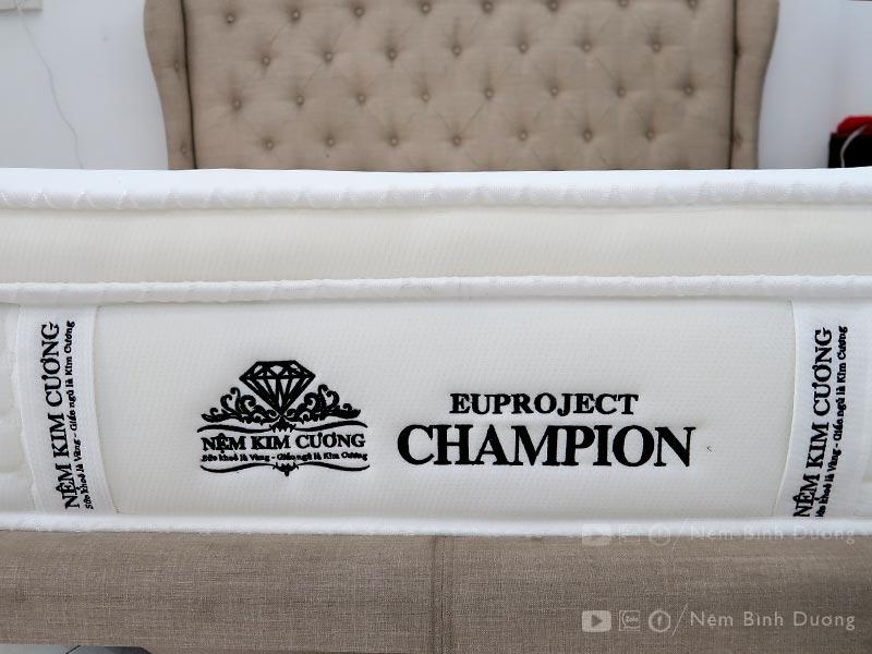 Nệm lò xo Kim Cương EuProject Champion - Nệm Bình Dương